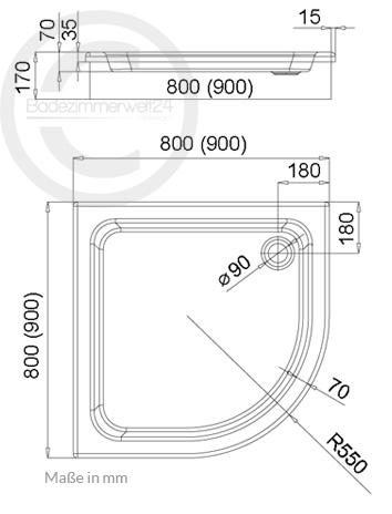 aquabad duschwanne duschtasse comfort forta plus befliesbar oder mit sch rze ebay. Black Bedroom Furniture Sets. Home Design Ideas