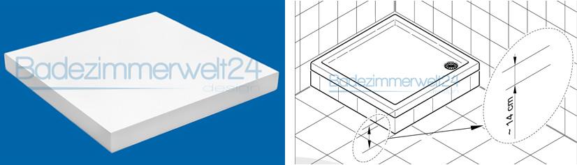duschwanne duschtasse aquabad praktica superstabil flach rechteck viertelkreis ebay. Black Bedroom Furniture Sets. Home Design Ideas
