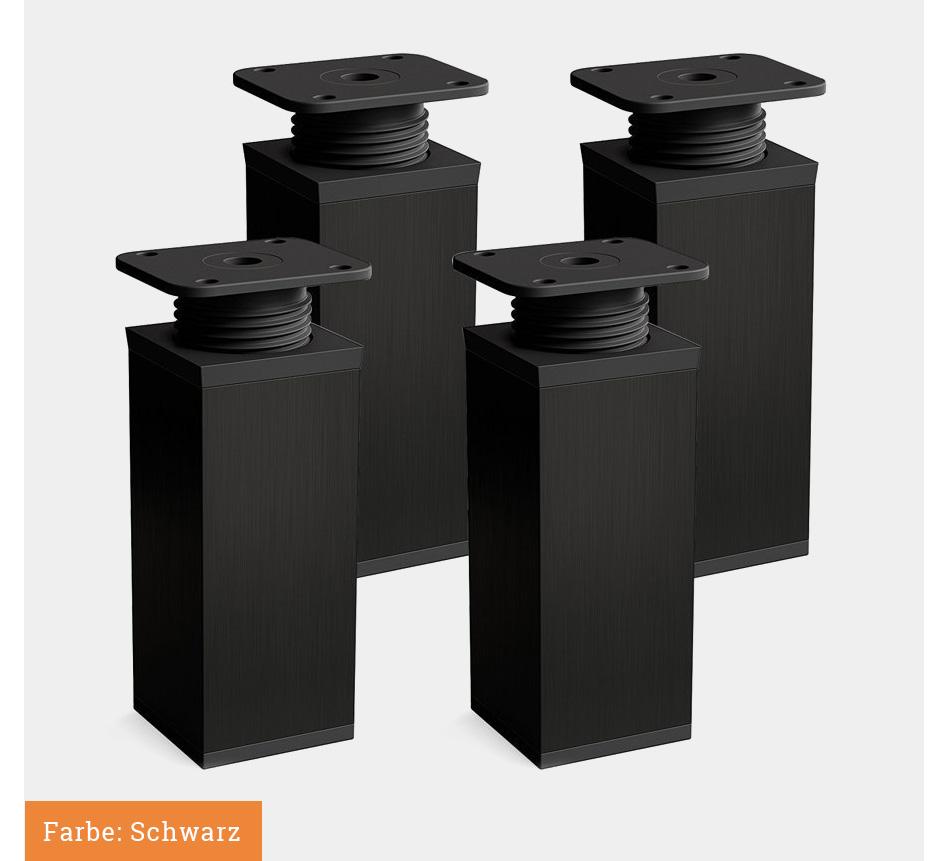 Zimmerheld Aluminium Mobelfusse In Edelstahl Sockel Schrankfusse