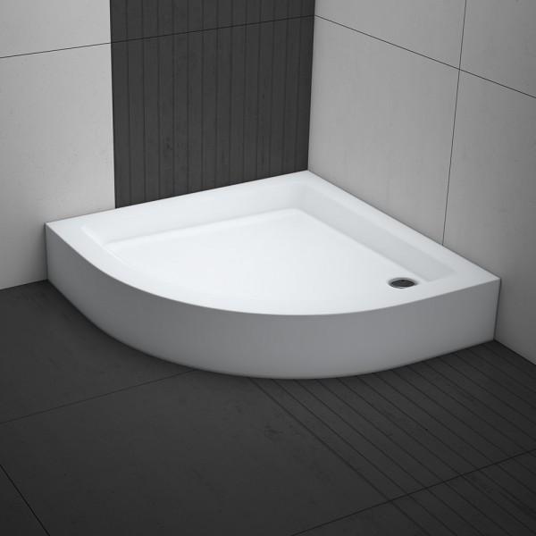 Aquabad® Norma Duschwanne Viertelkreis R55