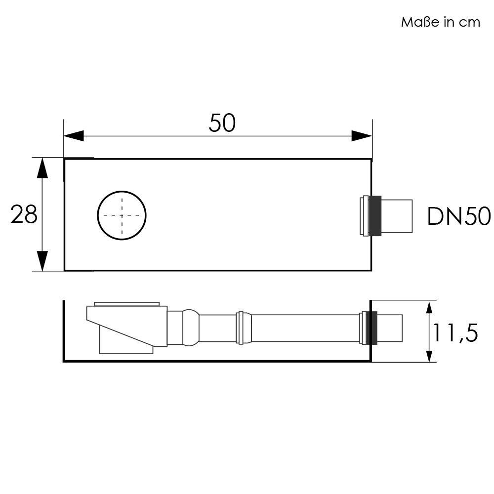 Aquabad® ProBox Installationshilfe für Ablaufgarnituren inkl. Montagezubehör