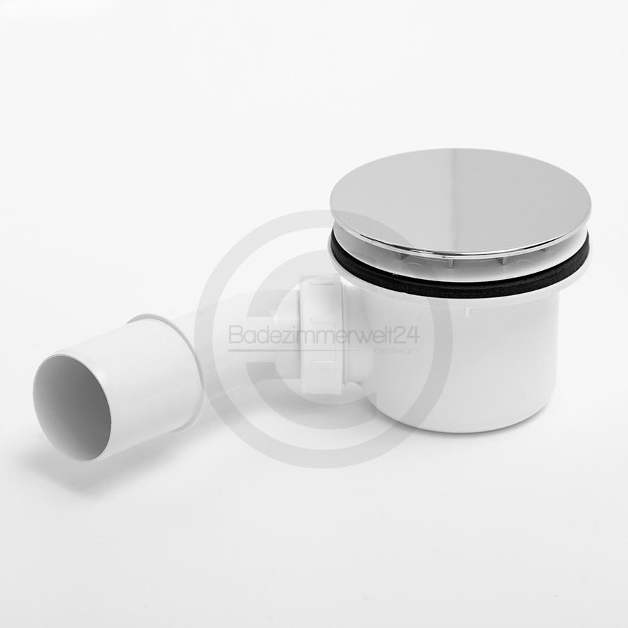 Aquabad® Trapflex Ablaufgarnitur für Duschtassen, Deckel verchromt und Geruchssperre inkl. Flexverbi