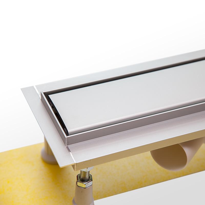 Aquabad® AluLine Duschrinne inkl. Viega Ablauf mit Blende in Satin