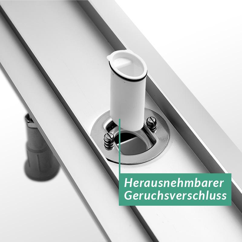 Befliesbare Duschrinne Aquabad® AluLine inkl. Viega Domoplex Ablaufgarnitur