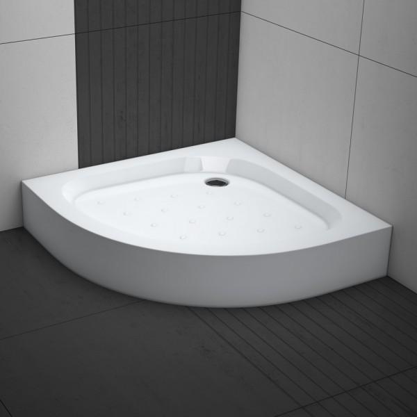 Aquabad® Norma Plus Duschwanne Viertelkreis mit antirutsch Profil