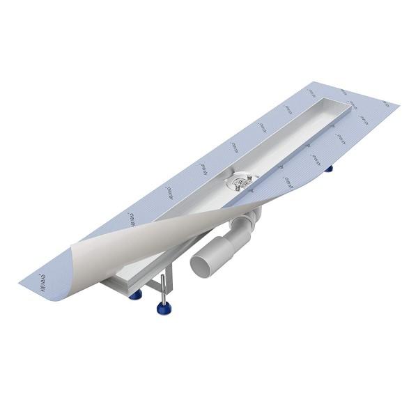 Duschrinnen-Grundkörper-SET Aquabad® SDS Pro, Viega Ablauf waagerecht, mittig, Haarsieb (ohne Blende
