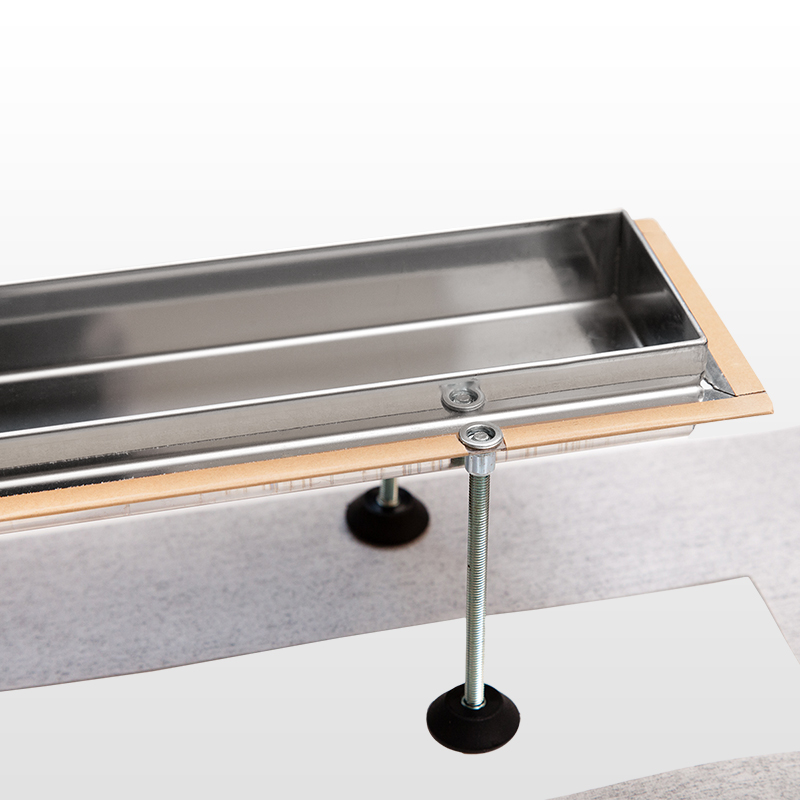 Aquabad® Edelstahl Duschrinne inkl. Ablauf, Blende »Ringe«