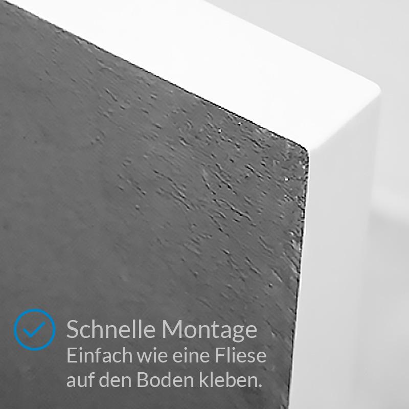 Aquabad® Comfort Praktica Viertelkreis Duschwanne Radius 55 cm