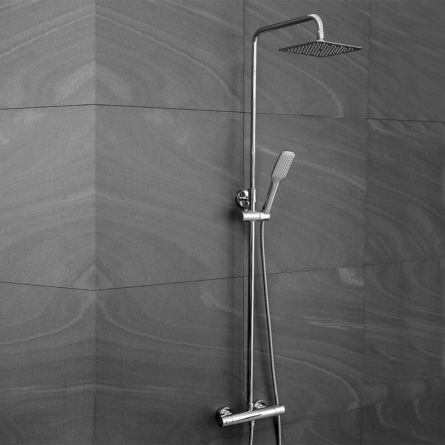 duschset mit h henverstellbarer tr gerhaltung. Black Bedroom Furniture Sets. Home Design Ideas