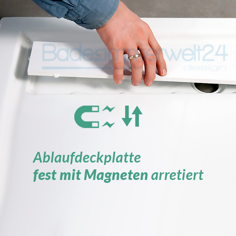 Aquabad® Comfort Linea Flat Rechteck Duschwanne inkl. Viega Ablauf