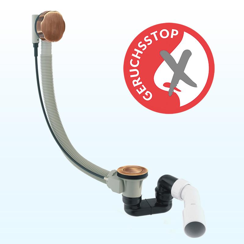 Badewanne Aquabad® PRIMO, 170x75 cm, Komplettset inkl. Träger und CGS-Ablauf in Bronze Antik