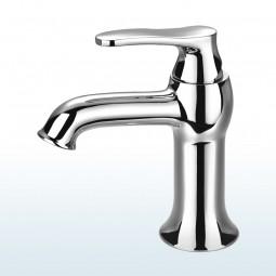 Art Deco Einhebelmischer / Waschtischarmatur, Standard: Höhe 15,5cm Ausführung: Chrom