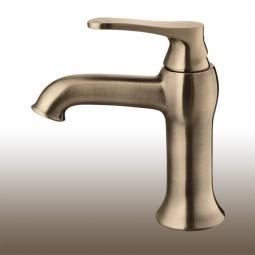 Art Deco Einhebelmischer / Waschtischarmatur, Standard: Höhe 15,5cm Ausführung: Antik Bronze