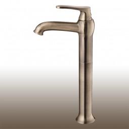 Art Deco Einhebelmischer / Waschtischarmatur, Maxi: Höhe 31,5 cm Ausführung: Antik Bronze