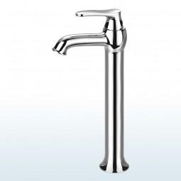Art Deco Einhebelmischer / Waschtischarmatur, Maxi: Höhe 31,5 cm Ausführung: Chrom