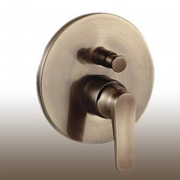 Art Deco Badewannenarmaturset: Aufputz 2 Wege Einhebelmischer, Handbrause, Antik Bronze