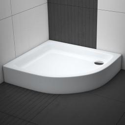 Aquabad® Comfort Forta Plus hohe Viertelkreis Duschwanne Asymmetrisch