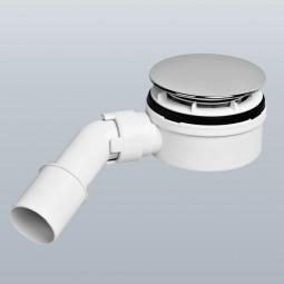 McAlpine extraflache Ablaufgarnitur für Duschwannen 90mm inkl. Ablaufbogen