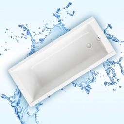 Badewanne Aquabad® SOLIDO, Komplettset inkl. Viega Simplex Ablauf und Styroporträger
