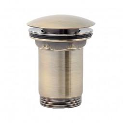 Universal Ablaufgarnitur POP UP Ventil für Waschtisch / Waschbecken in Bronze Antik