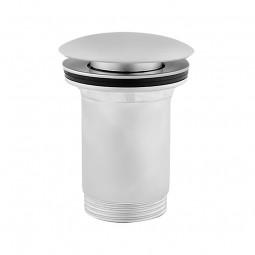 Universal Ablaufgarnitur POP UP Ventil für Waschtisch / Waschbecken in Satin matt