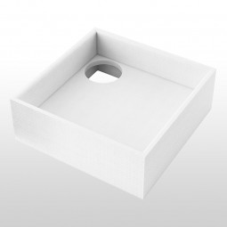 Aquabad® Styroporträger für Duschwannen H: 17 cm, quadratisch