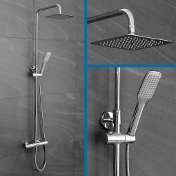 Duschsystem mit Regendusche und Thermostat - Komplettset