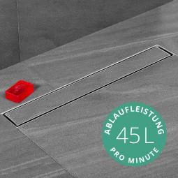 Aquabad® SteelLine Edelstahl Duschrinne mit Blende: Befliesbar inkl. Viega Domoplex Ablaufgarnitur
