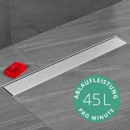 Aquabad® SteelLine Edelstahl Duschrinne mit Blende: Bord inkl. Viega Domoplex Ablaufgarnitur