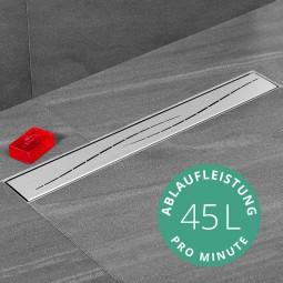Aquabad® SteelLine Edelstahl Duschrinne mit Blende: Modern inkl. Viega Domoplex Ablaufgarnitur
