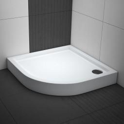 Aquabad® Comfort Ultima Viertelkreis Duschwanne Radius 55 cm
