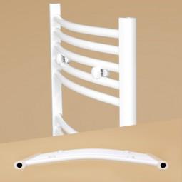 AQUABAD® Badheizkörper Venus Oval Seitenanschluss weiß