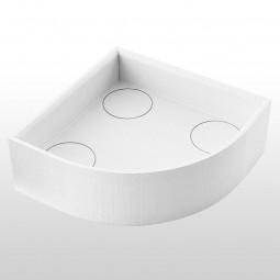 Aquabad® Styroporträger für Duschwannen H: 17 cm, viertelkreis