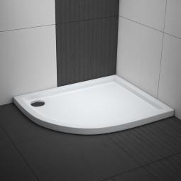 Aquabad® Comfort Villa Flat flache Viertelkreis Duschwanne Asymmetrisch Radius 55 cm