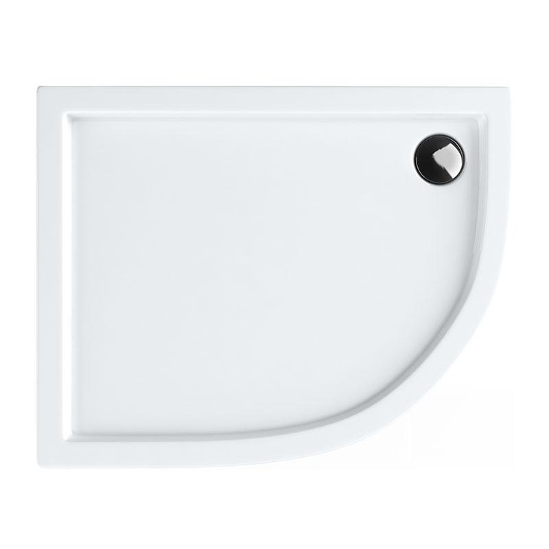 Aquabad® Comfort Ultima Viertelkreis Duschtasse Asymmetrisch Radius 55 cm